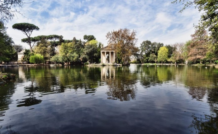 Parque de Villa Borghese en Roma