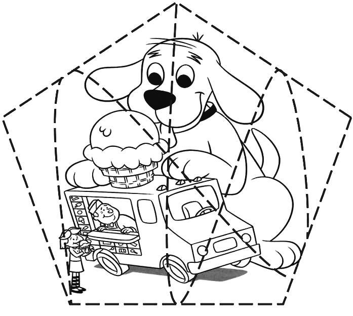 Puzzle infantil para imprimir, colorear y recortar de cachorro