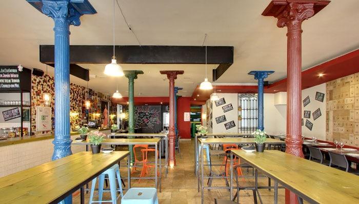 Restaurante para comer con niños La Excéntrica, en Madrid
