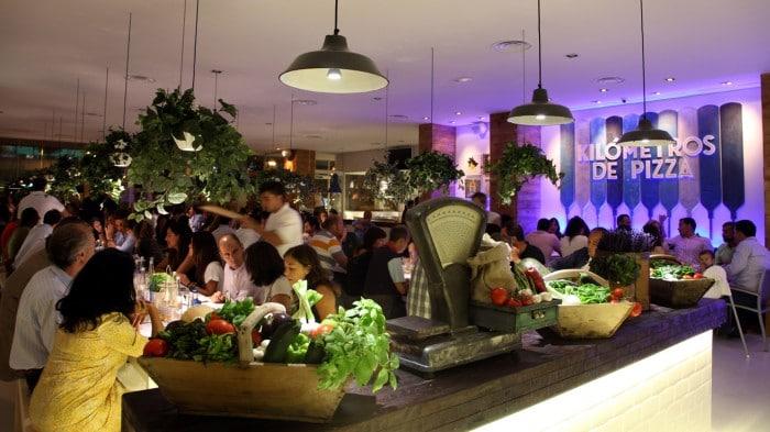 Restaurante para ir con niños Kilómetros de Pizza, Madrid
