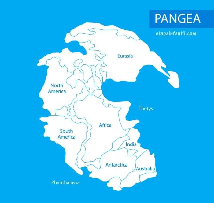 Supercontinente Pangea para imprimir