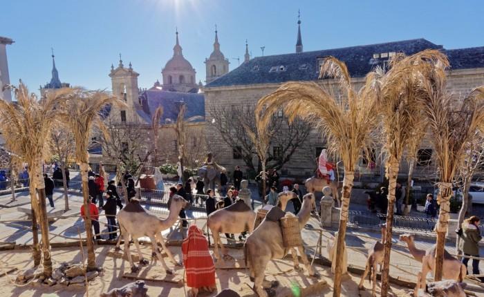 Belén viviente en San Lorenzo de El Escorial. Planes para hacer con niños en Navidad