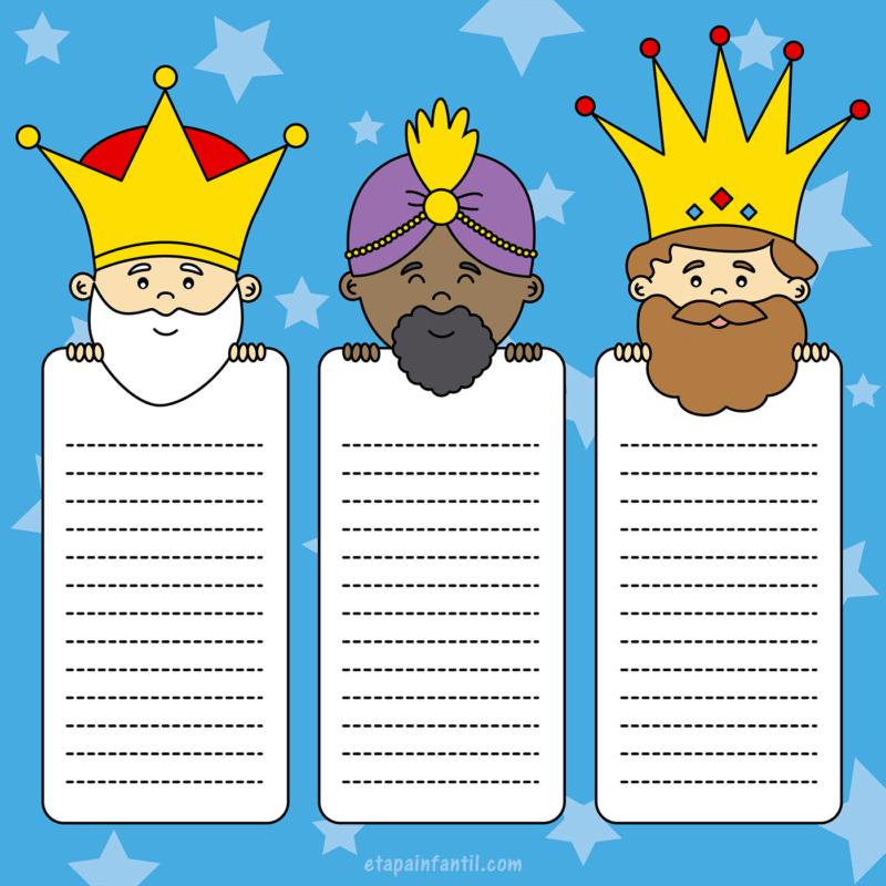 Carta para los Reyes Magos Melchor, Gaspar y Baltasar