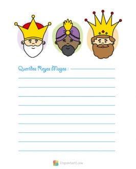 Carta Reyes Magos imprimir