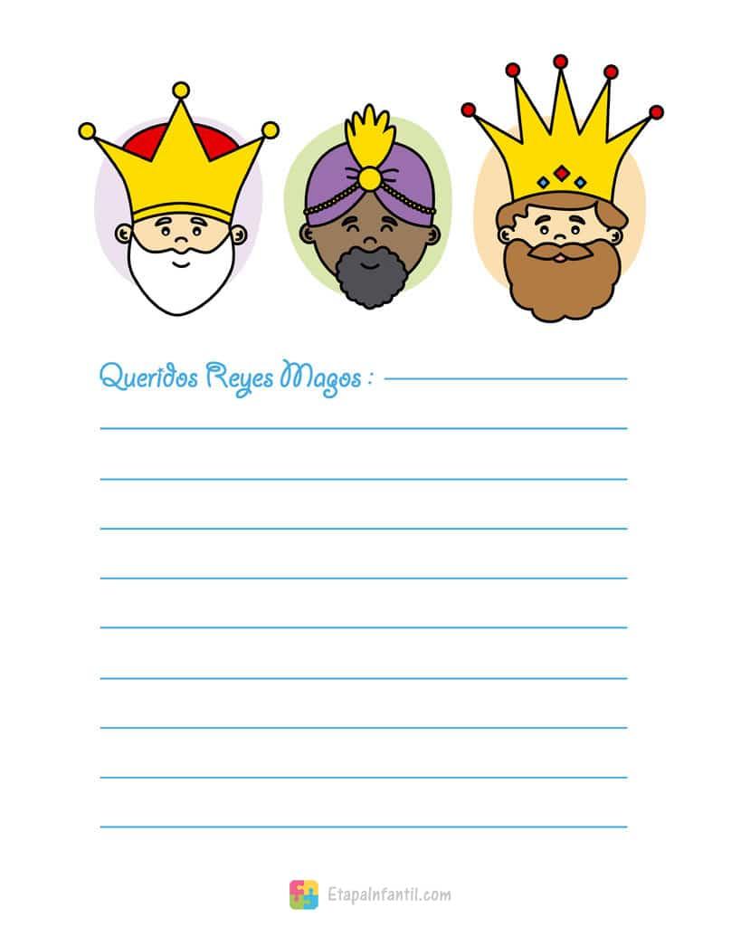 Carta de los Reyes Magos para imprimir
