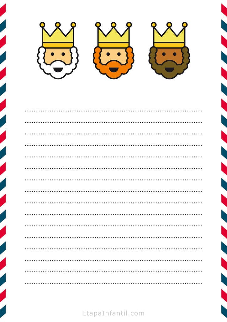 Carta de los Reyes Magos para imprimir - Etapa Infantil