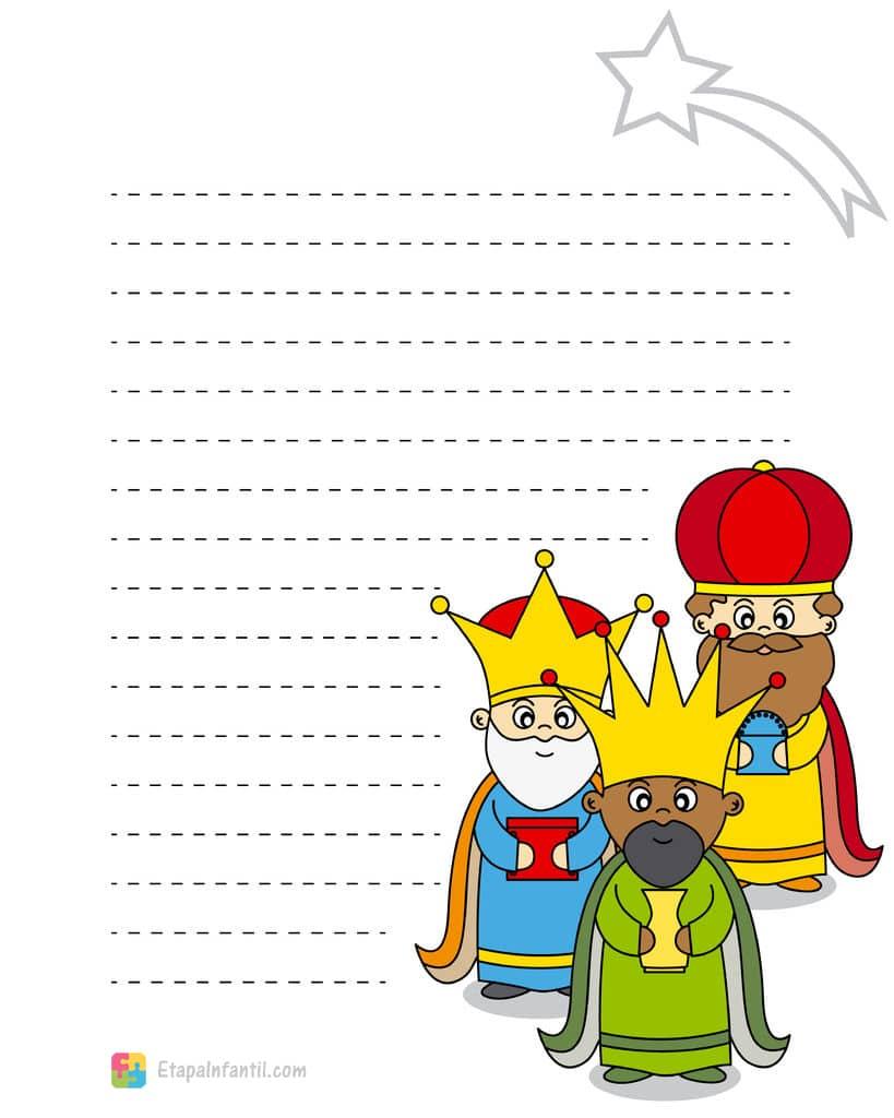Carta A Los Reyes Magos Para Imprimir Etapa Infantil