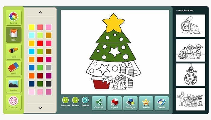 Dibujos de Navidad para colorear online - Etapa Infantil