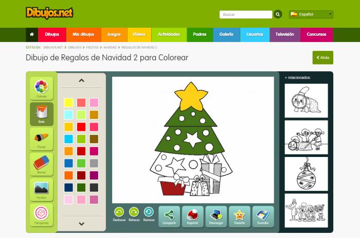 Dibujos de Navidad para colorear online