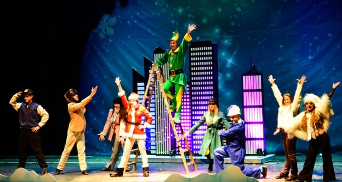 Espectáculo en parque temático Parque Warner en Navidad