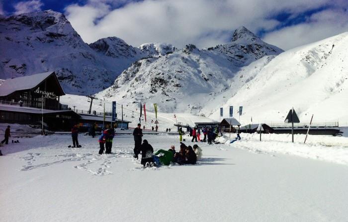 Estación de esquípara niños Aramón Formigal, en Huesca