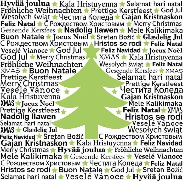 Feliz Navidad en todos los idiomas