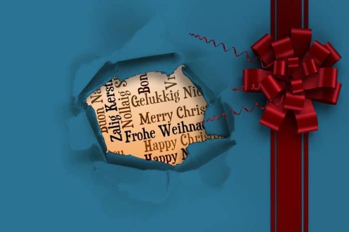 Feliz navidad en varios idiomas