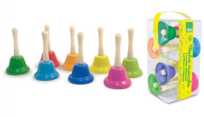 Instrumento musical infantil Campanas musicales infantiles