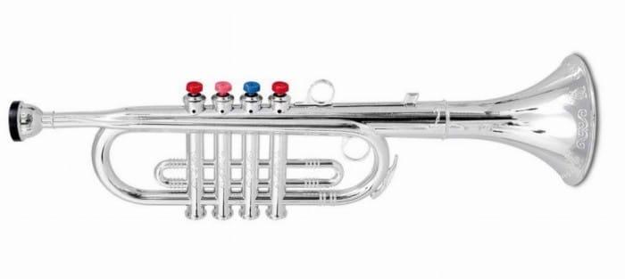 Instrumento musical infantil Trompeta de cuatro teclas