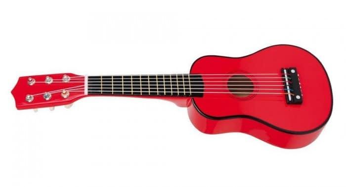 Instrumento musical para niñosGuitarra de madera roja