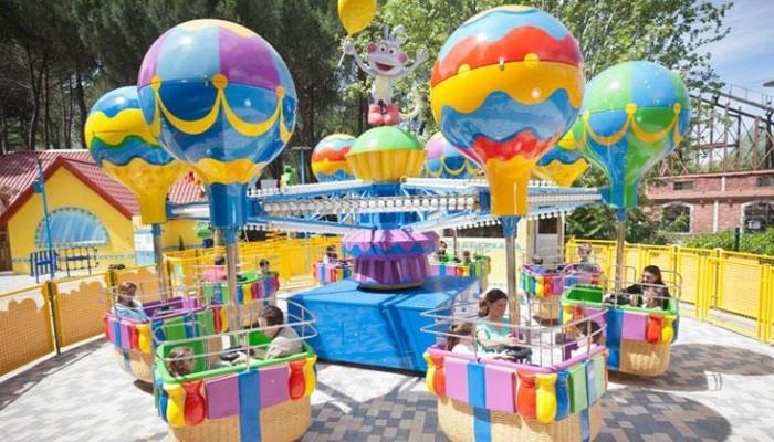 Los Globos Locos (zona NickelodeonLand) en Parque de atracciones de Madrid