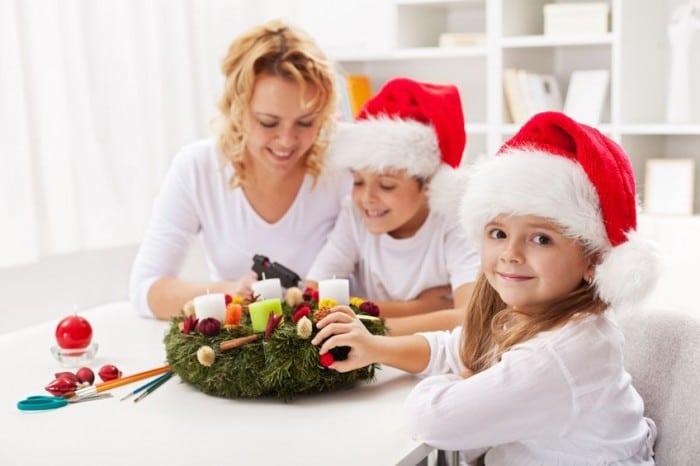 Manualidades de decoración navideñas infantiles