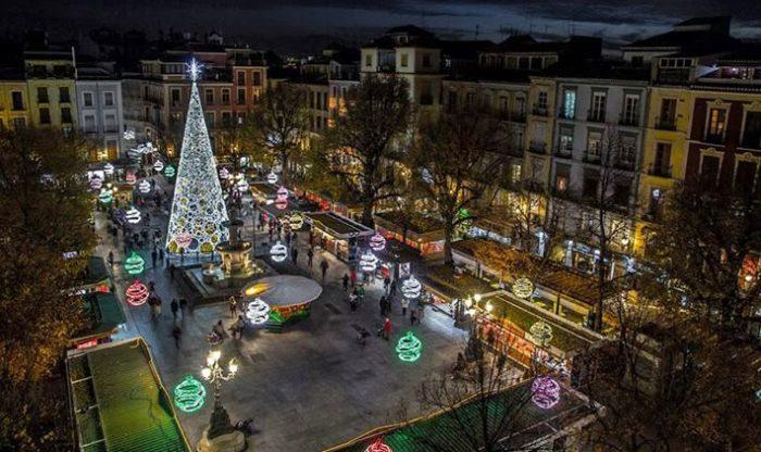 Mercadillo de Navidad de Bib-Rambla, en Granada
