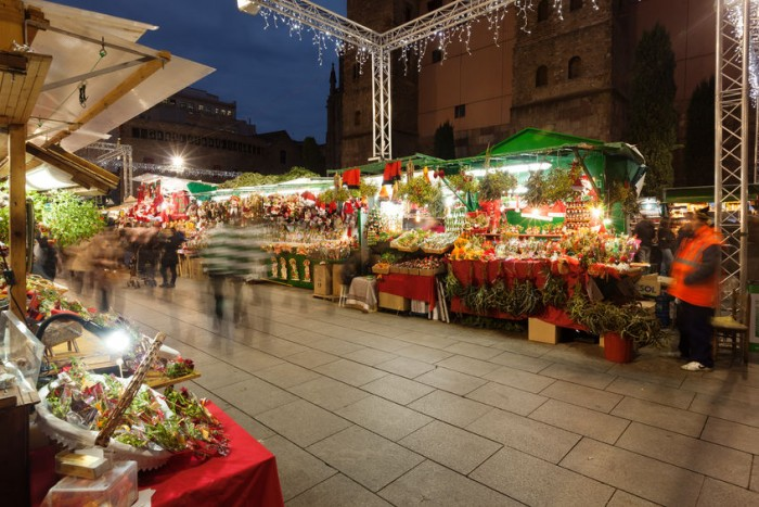 Mercadillo de Navidad en Barcelona