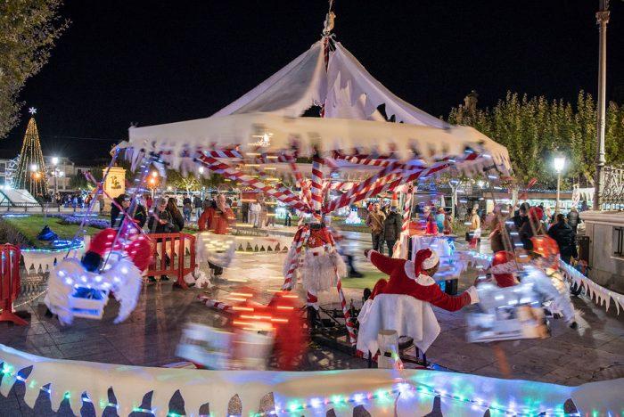 Mercadillo navideño, en Alcalá de Henares