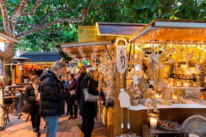 Mercado de Navidad de Puerto Portals, en Mallorca