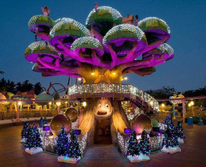 Parque temático PortAventura en Navidad