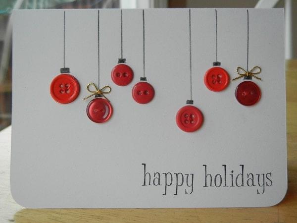 Tarjeta de Navidad con botones