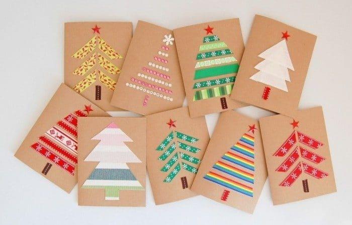 Cinco tarjetas de felicitaci n de navidad para hacer con - Originales arboles de navidad ...