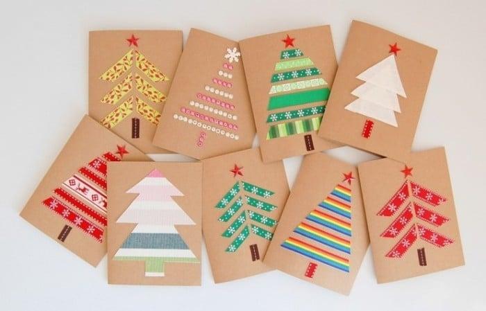 Tarjeta de felicitación con árbol de Navidad