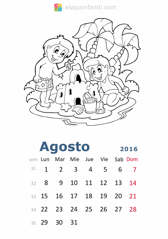 Colorear-Agosto-2016-Calendario-para-imprimir-y-colorear - Etapa ...
