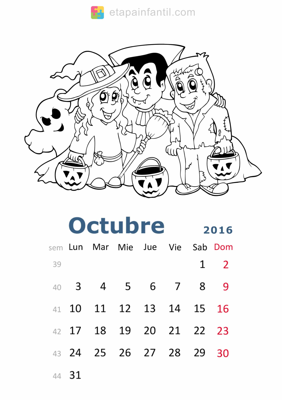 Colorear-Octubre-2016-Calendario-para-imprimir-y-colorear - Etapa ...