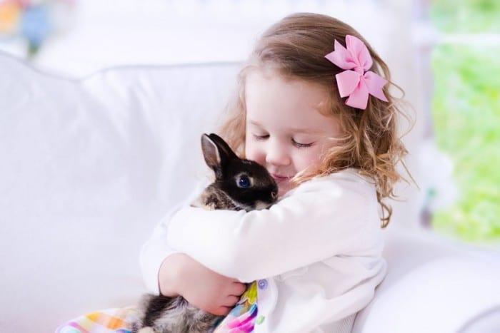 Conejos y ni%C3%B1os e1452526329644 - Las cinco mejores mascotas para los niños