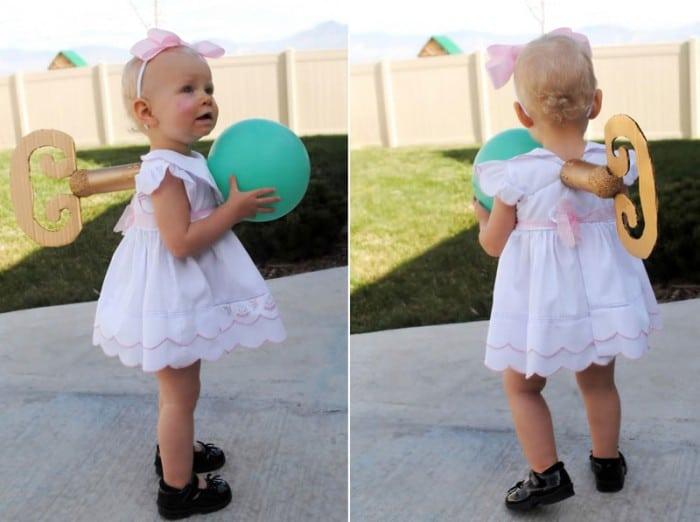 Disfraz casero de muñeca de cuerda