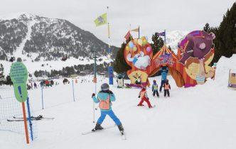 Estación de esquí para niños