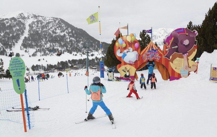 Estación de esquí para niños Grandvalira, en Andorra