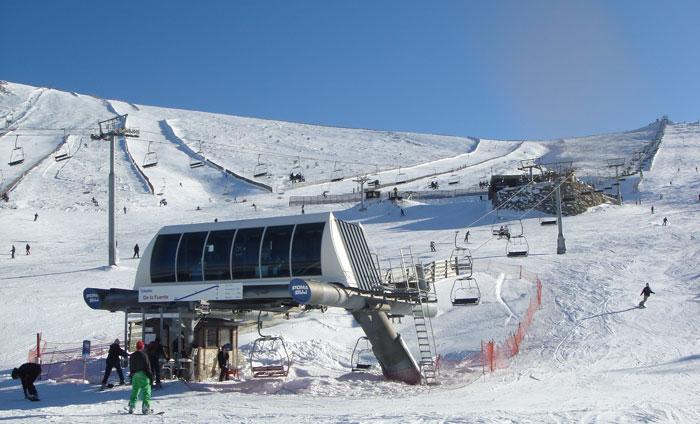 Estación de esquí Valdesquí, en Madrid