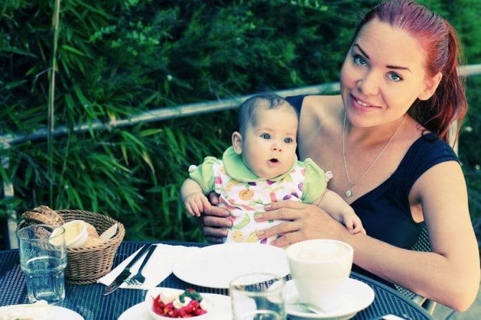 salir a cenar con un bebé