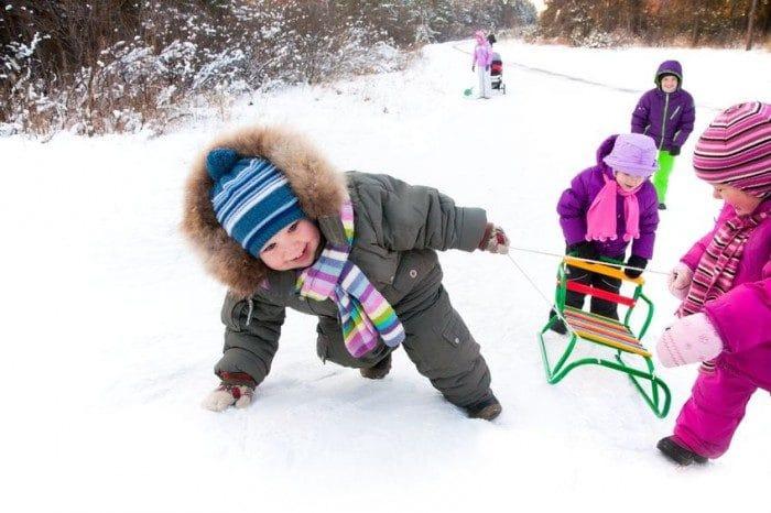 juegos para hacer con nios en la nieve
