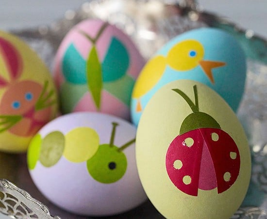 Huevos con decoupageIdeas para decorar huevos de Pascua
