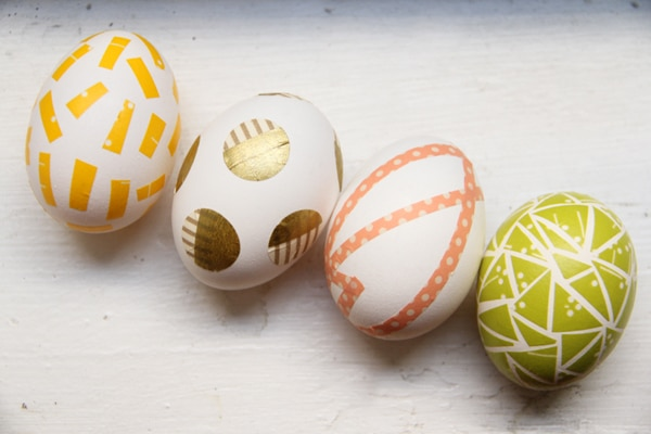Huevos decorados con washi tape Ideas para decorar huevos de Pascua
