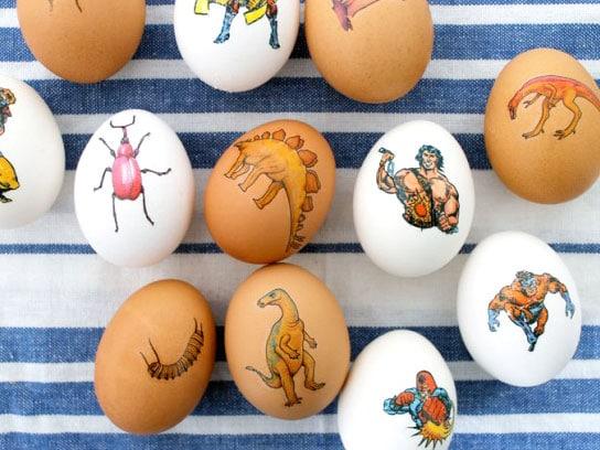 Huevos tatuadosIdeas para decorar huevos de Pascua