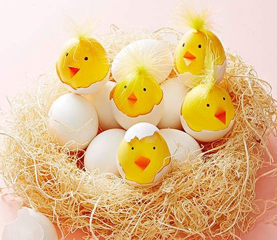 Pollitos de PascuaIdeas para decorar huevos de Pascua