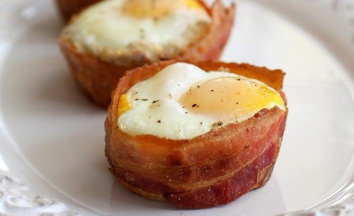 Receta Tacitas de huevo y beicon