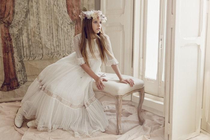 Vestido de comunión niña Hortensia Maeso 2016