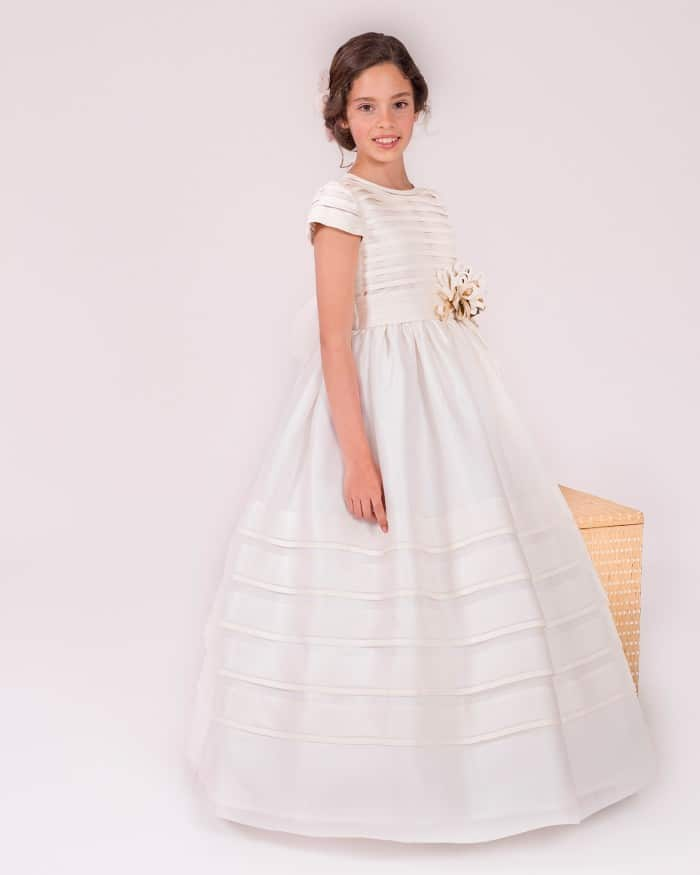 Vestido de comunión para niña Rosa Clara 2016