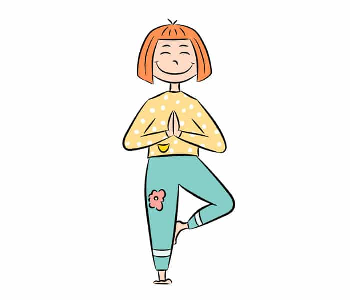 Yoga postura árbol