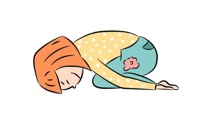 Yoga postura niño o feto