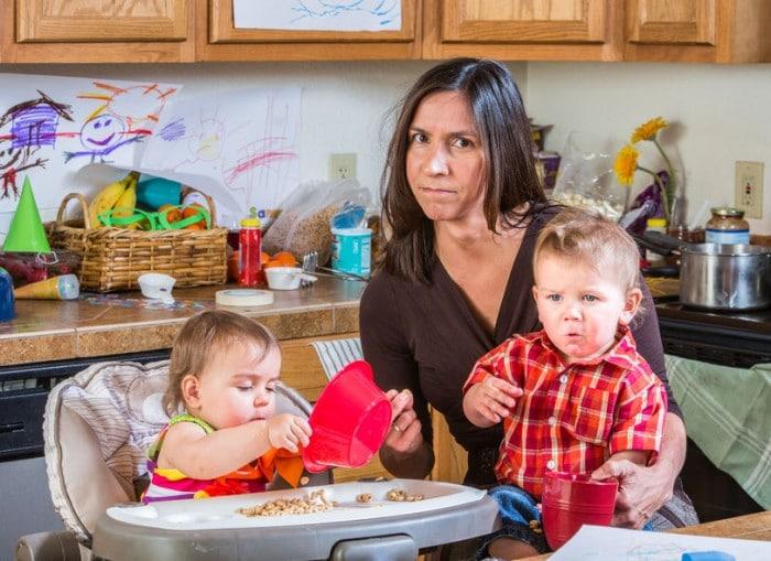 madres ocupadas