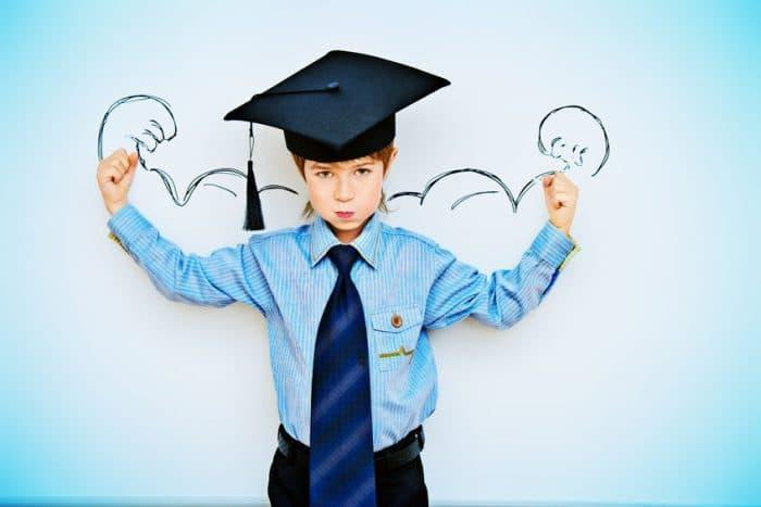 Ayudar a un niño emocionalmente ante un examen